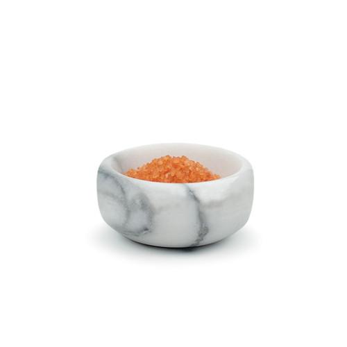 RSVP White Marble Salt Bowl