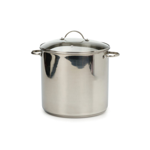 RSVP Stainless Steel 16qt Stock Pot
