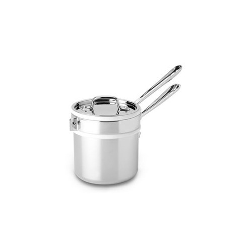 All-Clad D3 Stainless Steel 2qt Saucepan with Double Boiler