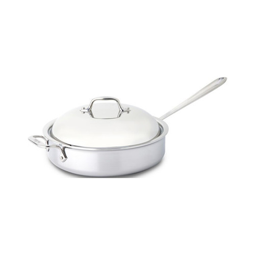 All-Clad D3 Stainless Steel 4qt Covered Sauté Pan