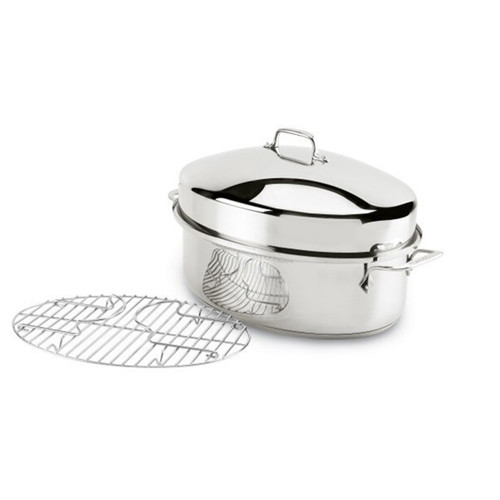 All-Clad Stainless Steel Oval Covered Roaster