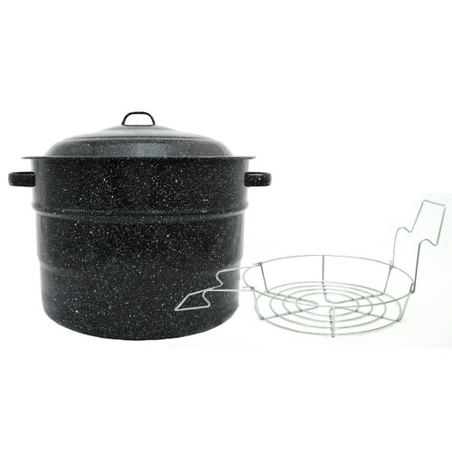 Granite Ware Water Bath Canner with Rack, 21.5 Qt
