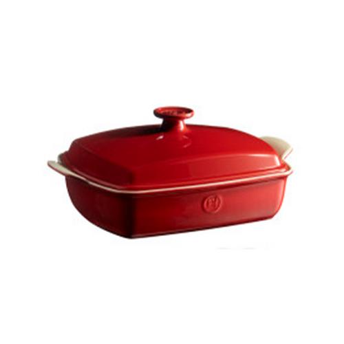 Emile Henry Covered Casserole Dish, Rouge