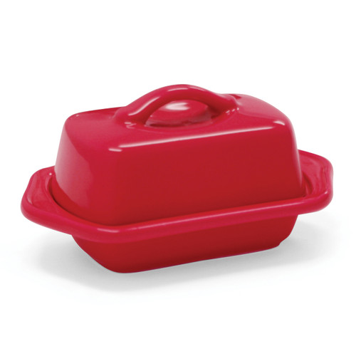 Mini Butter Dish, Red