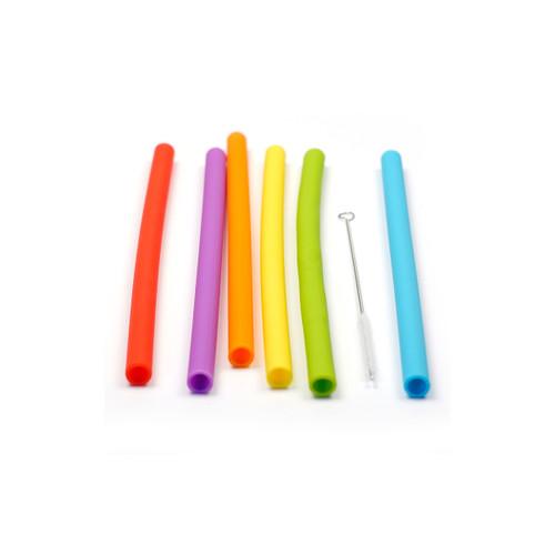 RSVP Jumbo Silicone Straws