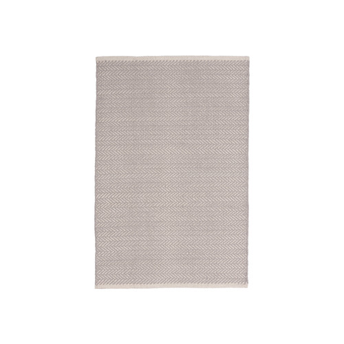 Dash & Albert Herringbone Dove Grey Cotton Rug