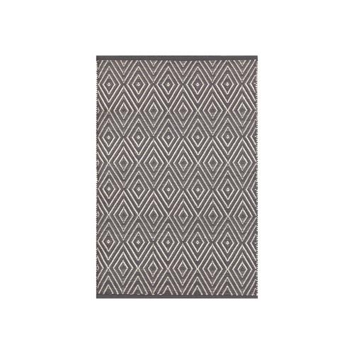 Dash & Albert Diamond Graphite/Ivory Indoor/Outdoor Rug