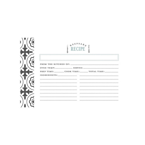 4x6 Recipe Card, Farmhouse