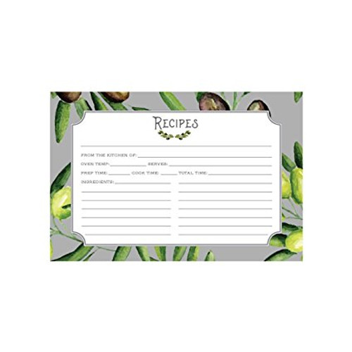 4x6 Recipe Card, Olives
