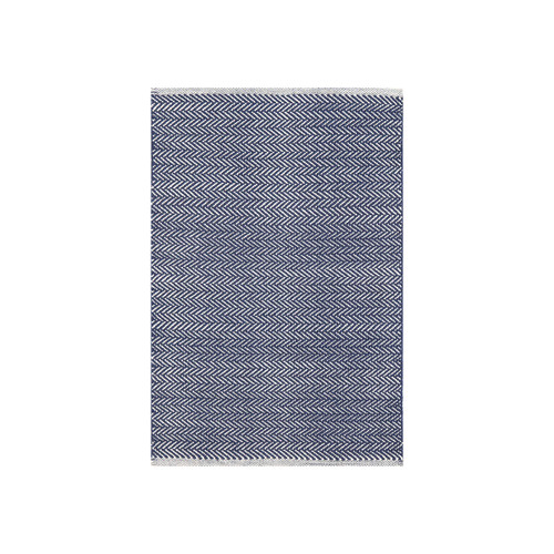 Dash & Albert Herringbone Indigo Cotton Rug