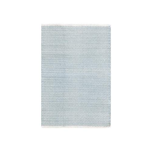 Dash & Albert Herringbone Swedish Blue Cotton Rug
