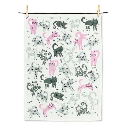 Abbott Leaping Kitties Tea Towel