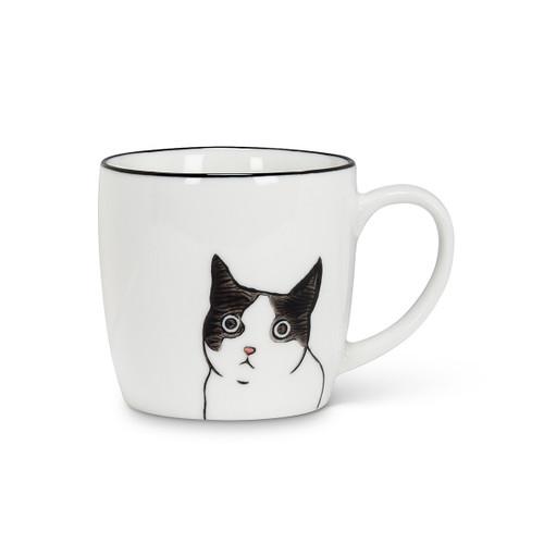 Abbott Peering Cat Mug