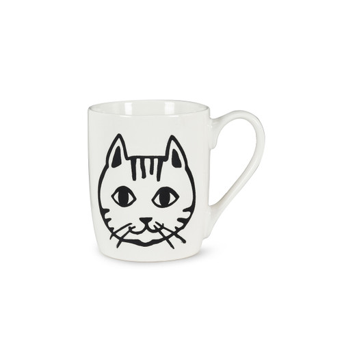 Abbott Simple Cat Face Mug