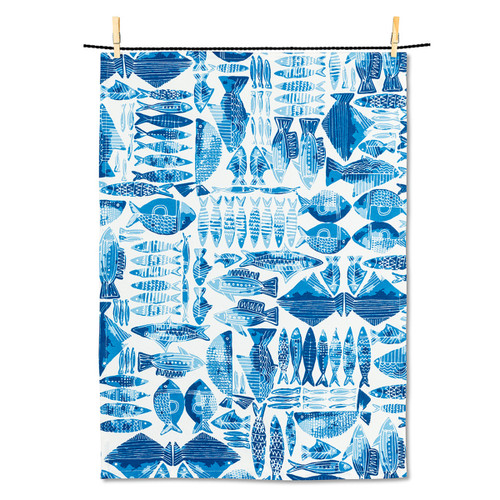 Abbott Fish Grid Tea Towel