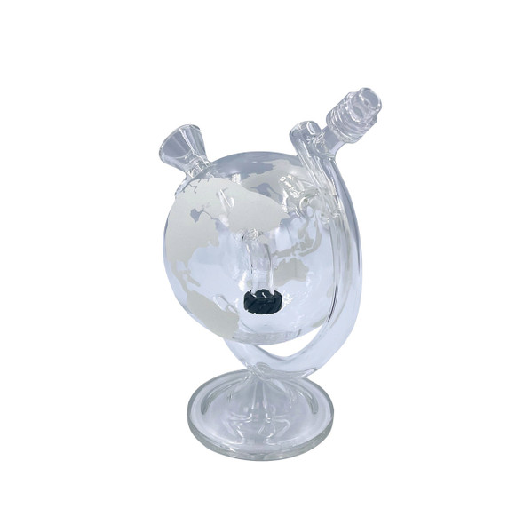 """On Point Glass - 8"""" World Globe Water Pipe With 14M Bowl (DG1614) (MSRP $99.99)"""