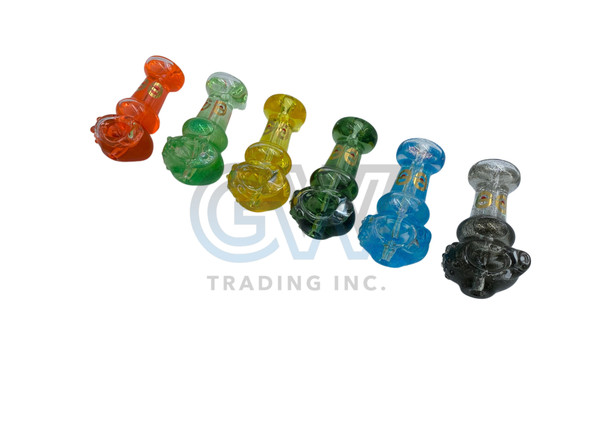 """Cheech Glass - 4"""" Glycerin Filled Spoon Hand Pipe [CH-PIPE-3F] (MSRP $34.99)"""