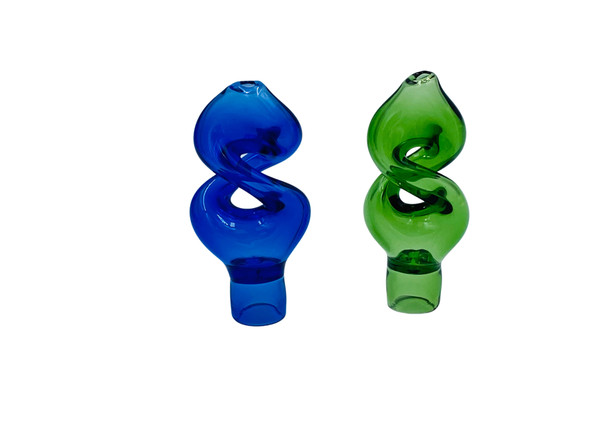 """3"""" Twisted Chillum Hand Pipe in Color Tubing (Pack of 2) [JG160] (MSRP $ 14.99)"""