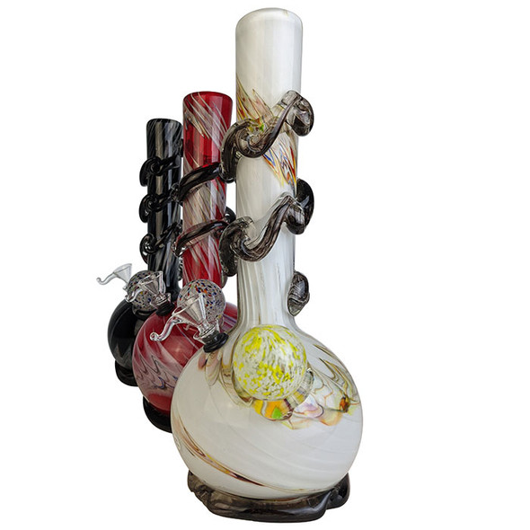 """12"""" Lifted RoundB 2 Bulb Ribbed Grip Soft Glass- Glass On Rubber [MA-1303-CB] (MSRP $49.99)"""
