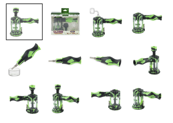 Ooze - Clobb Silicone Glass Water Pipe & Nectar Collector - [OZCLOBB] (MSRP $89.99)