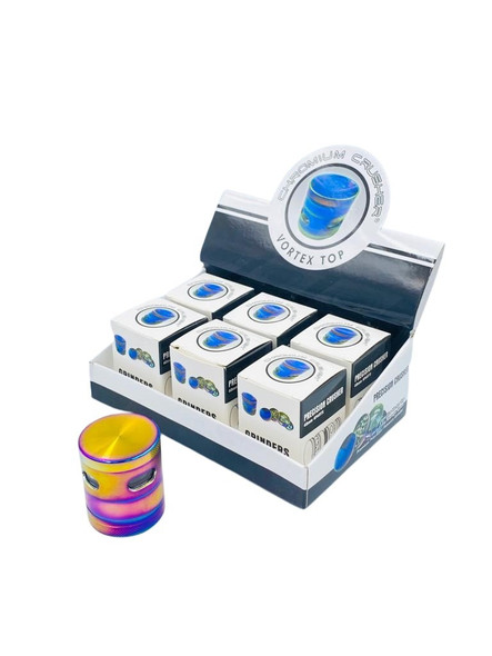 Chromium Crusher Vortex Series With Extra See-Through Storage Space Rainbow Color (Display of 6) [70350] (MSRP $89.99)