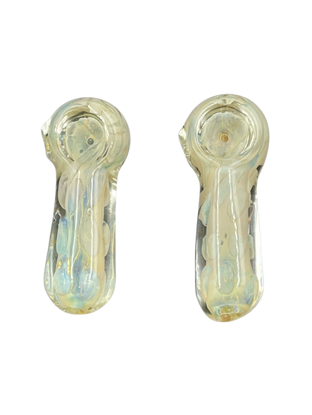 """3.5"""" Heavy Silver Fumed Dot Art Hand Pipe (Pack of 2) (MSRP $19.99)"""