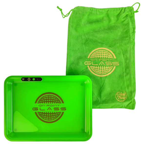 On Point Glass - Light Up LED Rolling Tray - 11''x 8.25'' [JD53] (MSRP $34.99)