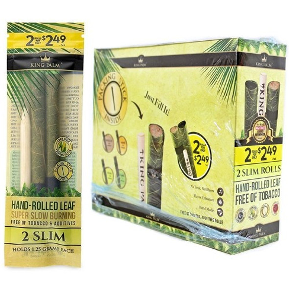 King Palm - Pre-Priced Cone - Slim Pre-Roll 20CT (Pack of 2) [KP-104] (MSRP $74.99)