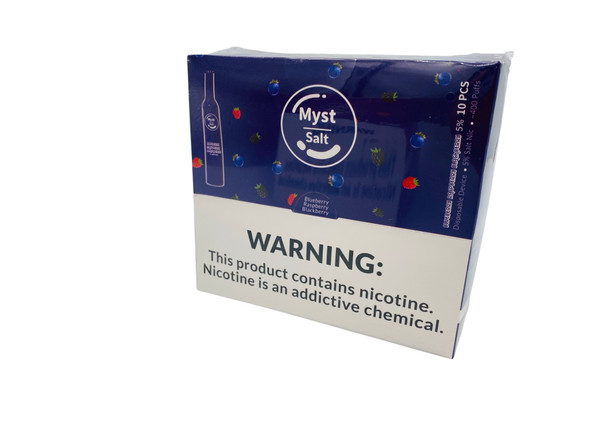 Myst 1.6ml Prefilled Disposable Salt Nicotine Pod Device - Display Of 10 (Msrp $12.99 Each)