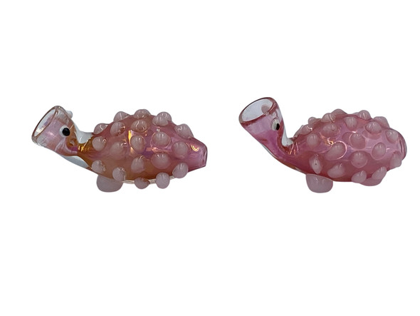 Gold Fumed Turtle Chillum Hand Pipe (Pack of 2) [SB1859] (MSRP $24.99)