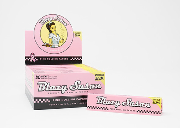 Blazy Susan - Pink Papers - King Size Slim Rolling Papers - (Display of 50) [ad1101102] (MSRP $84.99)