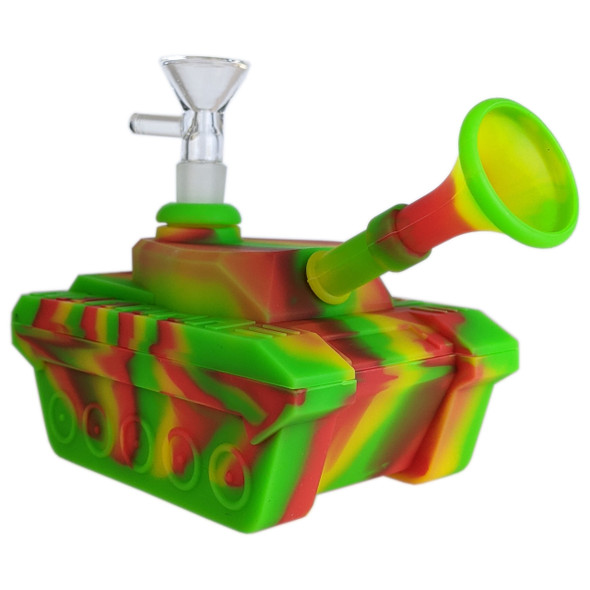 """4"""" Silicone Tank Shape Water Pipe [SWP143] (MSRP $24.99)"""