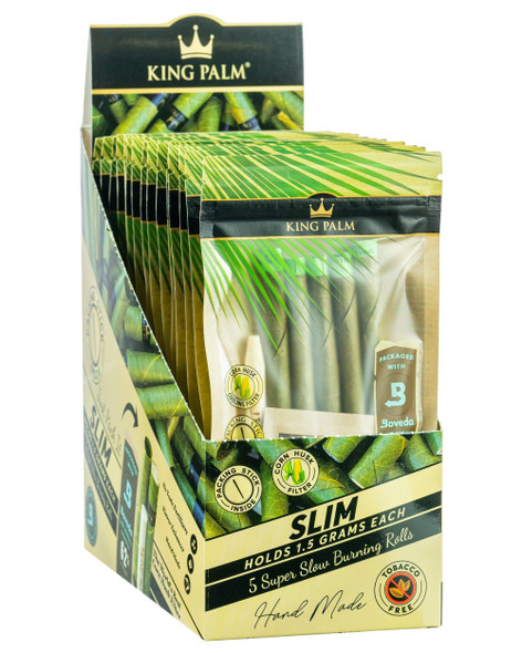 King Palm - Pouches 15CT - Slim Pre-Roll (Pack of 5) [KP-107] (MSRP $124.99)
