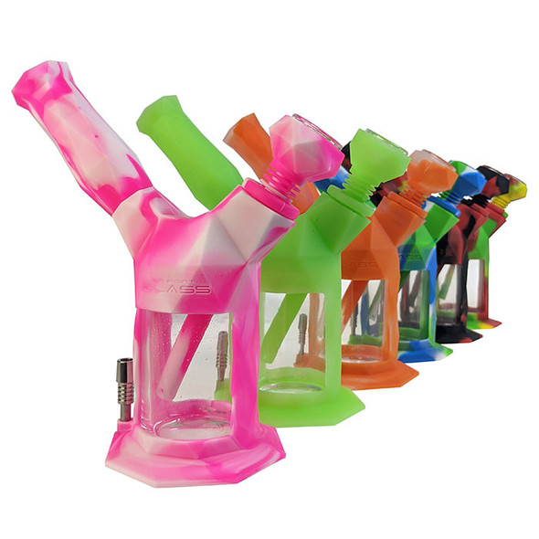 On Point Glass - Gemini 2in1 Water Pipe 14F Nector Collector 10MM [2in1-Gemini] (MSRP $49.99)