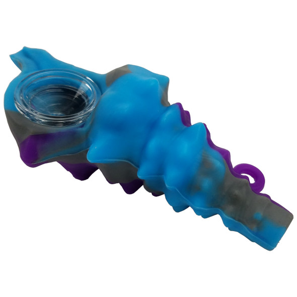 4.75'' Silicone Seashell Necklace Hand Pipe [SWP194] (MSRP $9.99)