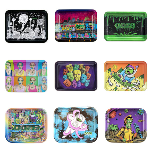 Ooze-Metal Rolling Tray Small Size Designer Series (MSRP $14.99)