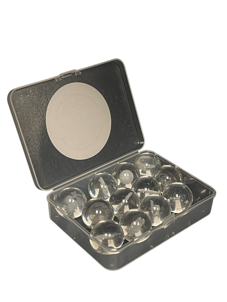 25mm High Quality Boro Glass Ball Carb Cap with 3D Assorted Designs 12- Pk(MSRP $ 9.99)