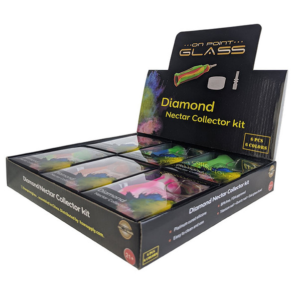 On Point Glass - Diamond Nector Collector Kit 10MM (Pack of 6) [Diamond-NC-6PK] (MSRP $124.99)
