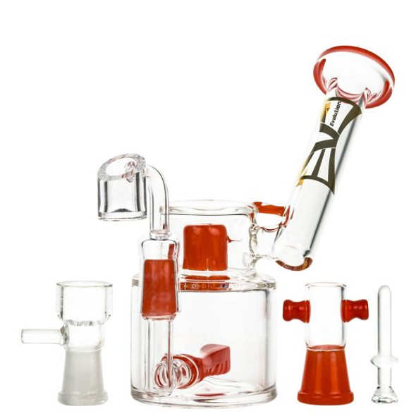 Evolution-Water Pipe Morning Glory Col. Joints & Dome-Red-8in (MSRP $ 79.99)