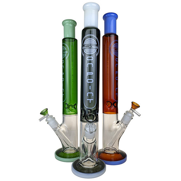 """[2020J09] 18"""" """"OPG"""" On Point Glass Slyme Double Color Tube Cylinder Water Pipe  (MSRP $ 69.99)"""