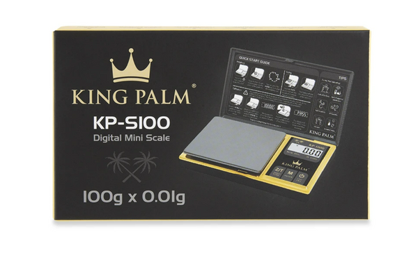 KING PALM SCALE-100G x 0.01G BLACK/GOLD (MSRP $ 24.99)