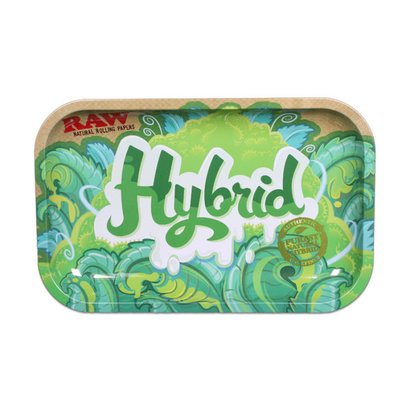 RAW HYBRID ROLLING TRAY METAL SMALL (MSRP $ 14.99)