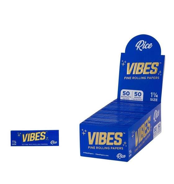 Vibes Rice1.25+Tips Paper-24CT (BLUE) (MSRP $109.99)