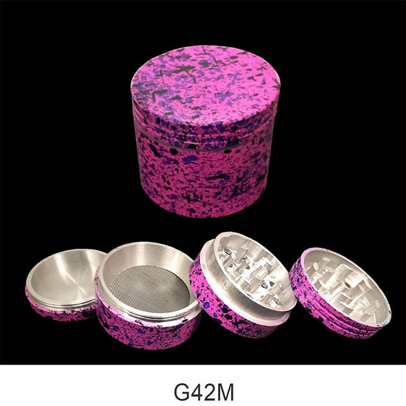 42MM 4 Part Grinder Marble Colors (Assorted Individual) [G42M](MSRP $6.99)