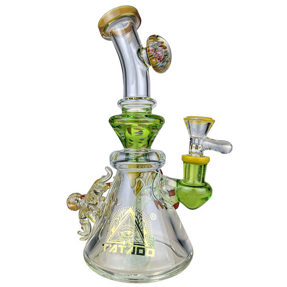 """TATAOO - 9"""" Under The Sea BangerH Water Pipe 14MM Female - Green Color [C13] (MSRP $ 167.99)"""