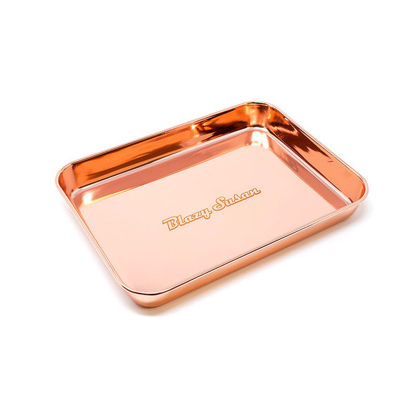 Blazy Susan - Stainless Steel Rolling Tray  (MSRP $ 24.99)