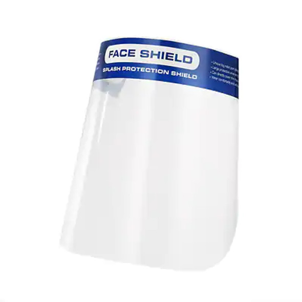 Protective Face Shield Mask with Elastic Band and Comfort Sponge-1 Pk