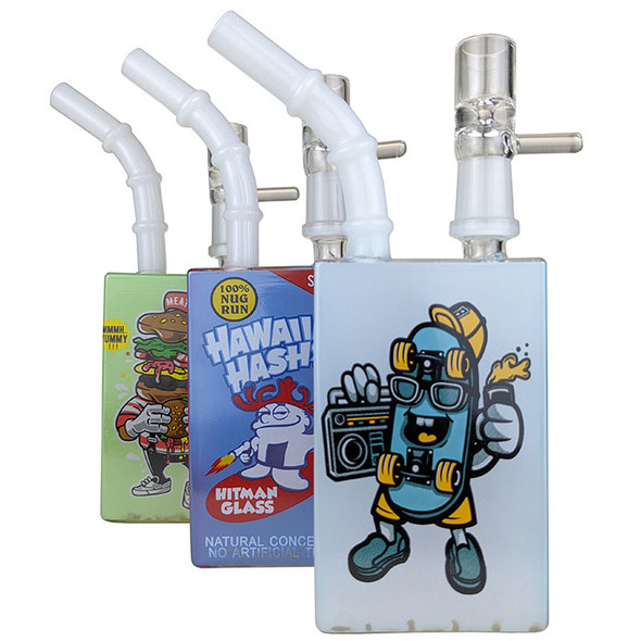 """8"""" Character Design Juice Box Rig Water Pipe 14MM Male - RM Portal [CZS-JA418] (MSRP $27.99)"""