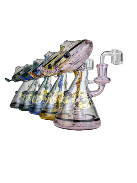 """On Point Glass - 6"""" Duck Head Novelty Water Pipe 14MM Female - WBNG [CZS-JA405] (MSRP $99.99)"""