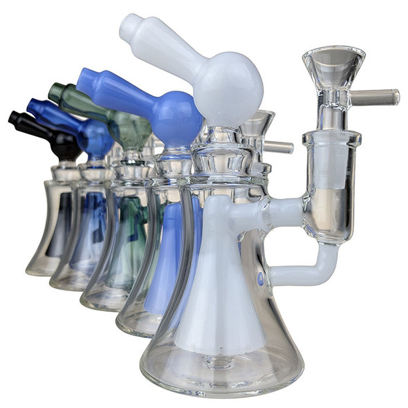 """6"""" Pinched Come Perc MiniR Water Pipe 14MM Female [DY-81] (MSRP $49.99)"""